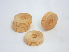 2 x 1-12 Dual Treaded Wood Toy Wheels